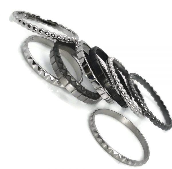 Bagues anneaux argent