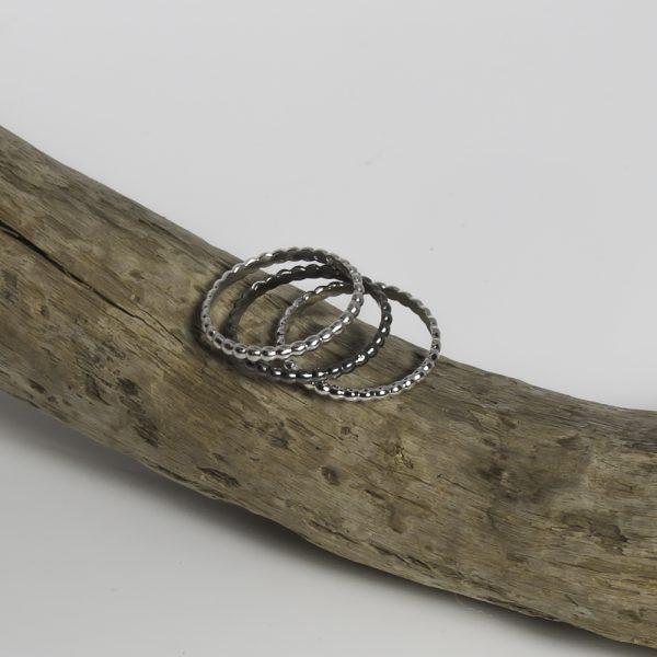 Bagues anneau en argent
