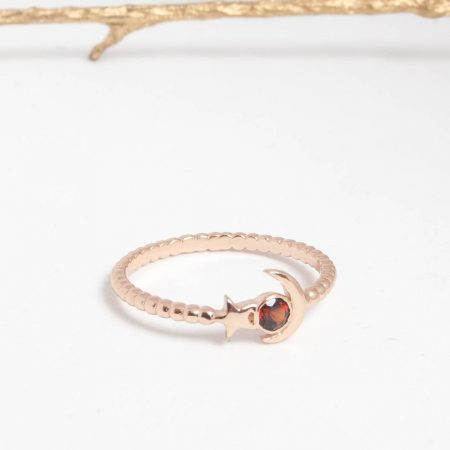 Bague starmoon grenat rouge Alexbok
