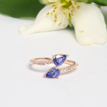 Bague snake tanzanite Alexbok